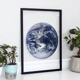 [파블로랩] 북유럽 인테리어 투명 액자 CLEAR ART - Blue Earth 01