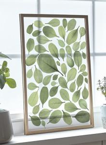 [파블로랩] 북유럽 인테리어 투명 액자 CLEAR ART - Green Leaves 01