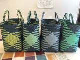 발리에코백 블랙블루/옐로우그린(L) 피크닉가방 토트백 여름가방 바스켓백 비치백 에코백