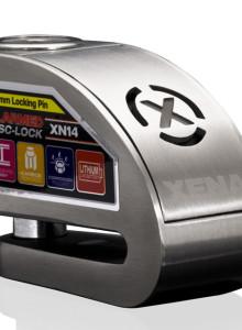 XENA XN14 오토바이락 경보기 도난방지 자물쇠 알람디스크락 이중장금장치