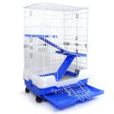 트리플 3단 고양이/토끼/친칠라/페릿 애완동물 더블 딜럭스 펫케이지 CH95(블루/65x43x95cm)
