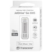 [PV] 트랜센드 Jetdrive GO 300 32G [색상 실버] OTG USB 3.1 3.0 메모리 애플 OTG 아이폰 OTG 아이패드 외장메모리 / 보호캡 제공