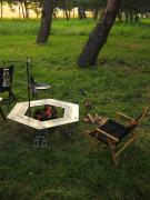 [VERTREK] 베르트렉 육각테이블 / 바베큐그릴, 스텐레스 화로테이블, 오토캠핑, 캠핑테이블, 야외테이블, 철제테이블, 테이블, 화로대테이블