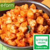[이팜] [예약상품 D-2] 유기농 별하트 깍두기1kg (담채원)