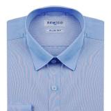 슬림 파스텔 블루 파란색 셔츠