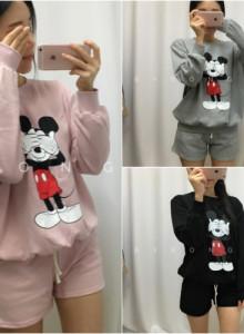 SET) 정품 미키마우스 잠옷 2종 - 반팔, 긴팔