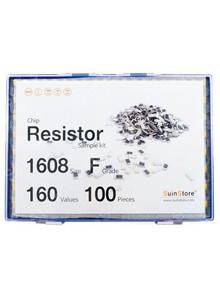 칩저항 키트 1608(0603) 사이즈 F급(1%) 160종 (100~500개入) /칩저항키트/저항키트/칩저항세트/저항세트/저항/칩저항/샘플키트/100개/200개/300개/500개