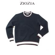 (5차재입고)(지오지아/ZIOZIA) 넥라인 컬러배색 포인트 맨투맨 니트티셔츠(ABW3TR1101/블랙)