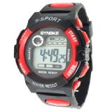 KW7102빨강 방수 전자 손목 시계