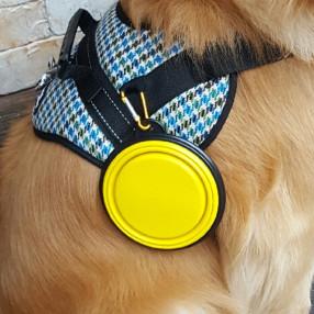 강아지 밥그릇/물그릇 여행 접이식 실리콘 산책 식기