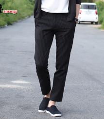 남자 스트라이프 슬랙스 바지 630 스판 정장 팬츠