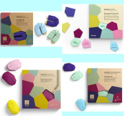 Estimote iBeacon(3개) (에스티모테 , 아이비콘, 비콘, iBeacon, Beacon, Sticker, Nearable,Location,Mirror)
