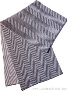 캐시미어 100 머플러 패턴 양면 목도리 [남녀공용]