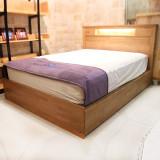 [광성가구] 고무나무 원목 수납 서랍 평상형 조명 Q/K공용 침대 ECO[기획]