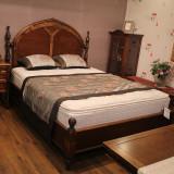 [광성가구] 엔틱 원목 침대 고급 원목 침대 프레임 ELI