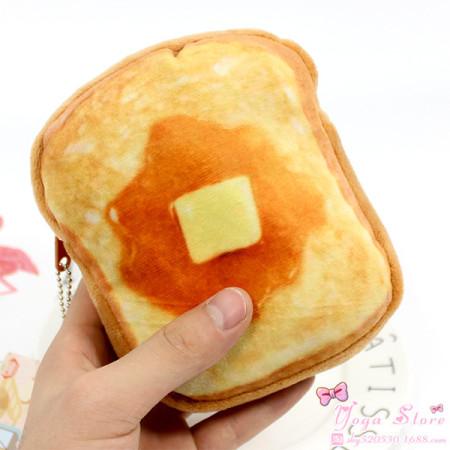 버터와 시럽을 올려먹자 식빵 파우치