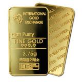 [국제금거래소] 고급 프레스 3.75g 순금 999.9% 미니 골드바
