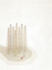 [까치당] 리소그라피 포스터 '외딴 모닥불'