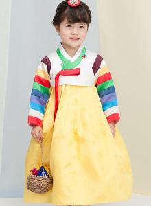 아랑색동 여자아기한복