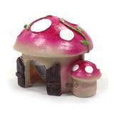 귀여운 팬시 미니하우스 (자주버섯)
