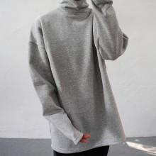 오버핏 기모 목폴라 티셔츠 3color