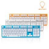 아콘 archon ClearVuty 컬러 키보드 레인보우 LED백라이트 기계식키감 26키동시입력 가성비 추천 특가