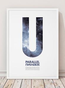 유럽산 우드프레임 포스터 원목액자 - Parallel Universe