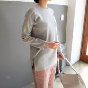 [걸스데일리]로엠 라운드 티셔츠(그레이,블랙,아이보리)