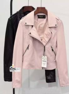 여성 퍼 라이더 재킷 2016신상 추동 여성복 여성 핑크 레더 가죽 슬림형 pu 날씬해 보이고 있다. 한국판 재킷
