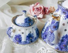 (예카공구) 9. 웨딩 꽃바구니 설탕기 (약 235ml) 로모노소프 임페리얼 포세린 예쁜그릇