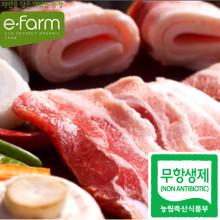 [이팜] 무항생제 삼겹살(돈육 냉장 로스용)(600g)