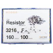 칩저항 키트 3216(1206) 사이즈 F급(1%) 160종 (100개~500개入) /칩저항키트/칩저항세트/저항세트/저항/칩저항/샘플키트/100개/200개/300개/500개