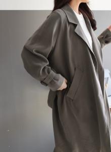 [걸스데일리]프로치 트렌치 코트(베이지,다크브라운)