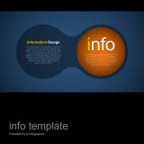 파워포인트 인포 템플릿 / 원 관계 설명형
