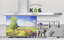 주방아트보드키친아트갤러리(디자인) 모네-여름, 양귀비 들판(small사이즈)