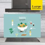 주방아트보드 키친플래너 / 브로콜리 스카이블루 / Large