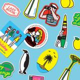 [루카랩 x 캠퍼] Lazy Lounge Sticker set - 캠퍼 에디션 스티커