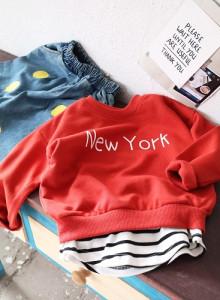 뉴욕맨투맨티셔츠 유아동 남여공용