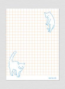 고양이 메모패드