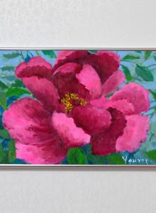 김서영-붉은목단 / 꽃그림 포스터 / 유화 그림