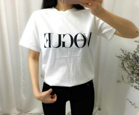 레터링 반팔 보그 티셔츠 (2컬러) / 보그 티셔츠 / 레터링 티셔츠 / 반팔 티셔츠