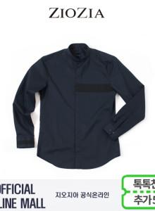 (지오지아/ZIOZIA) CPSPAN 가슴배색 포인트 캐주얼 차이나셔츠(AAW3WC1101/네이비)