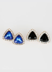 [귀걸이] 트라이앵글 귀걸이 Triangle Shaped Earrings
