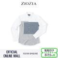 (지오지아/ZIOZIA) 컬러블럭 디자인 포인트 캐주얼 셔츠(AAX1WC1103/화이트)