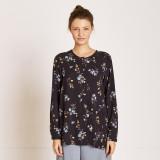 [TheKstory] Flower pattern blouse_NAVY