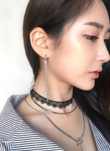 [품절]언발란스 실버 드롭 여름 귀걸이 이어링 악세사리