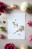 미니꽃다발 드라이플라워 카드 엽서 캘리그라피 주문제작 여자친구 부모님 기념일 선물 추천