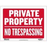 [베이직코리아] BAZIC 9인치 X 12인치 'PRIVATE PROPERTY NO TRESPASSING' 싸인 '사유지 출입금지'