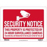 [베이직코리아] BAZIC 9인치 X 12인치 'SECURITY NOTICE' 싸인 '보안중'