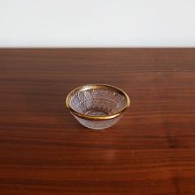 [Gold Trim Crystal] Ø8.2cm Glass Bowl, 골드트림 크리스탈 보울, 작은 유리 보울